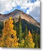 Red Mountain Fall Colors Metal Print