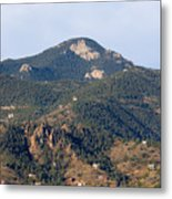 Red Mountain In The Foothills Of Pikes Peak Colorado Metal Print