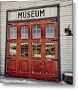 Red Museum Door Metal Print