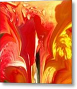 Red N Yellow Flowers 5 Metal Print