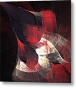Red Nebula Metal Print