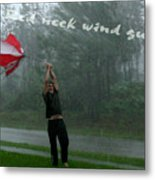 Red Neck Wind Guage Metal Print