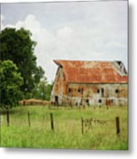 Red Oak Barn Metal Print