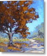 Red Oak Metal Print by Yvonne Ankerman
