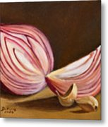 Red Onion Still Life Metal Print