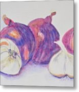 Red Onions And Garlic Metal Print