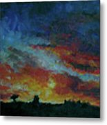 Red Orange Evening Metal Print
