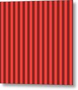 Red Orange Striped Pattern Design Metal Print