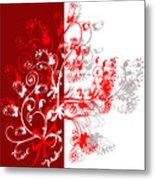 Red Ornament Metal Print
