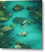Red Outrigger Canoe Metal Print by Ron Dahlquist - Printscapes