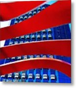 Red Over Blue Metal Print