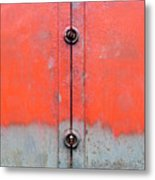 Red Over Grey Metal Print