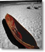 Red Paddle Boat Playa Del Carmen Metal Print