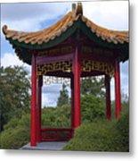 Red Pagoda Metal Print