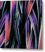 Red Palm Fronds Metal Print