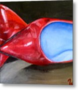 Red Patent Shoes Metal Print