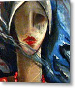 Red Pearls Metal Print