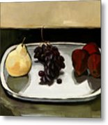 Red Pears Metal Print