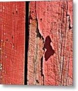 Red Peeling Paint- Fine Art Metal Print