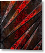 Red Pepper Abstract Metal Print
