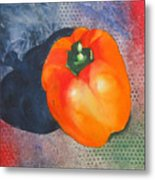 Red Pepper Solo Metal Print