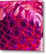 Red Pineapple Metal Print