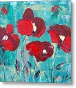 Red Poppies 2 Metal Print