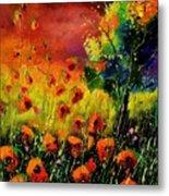 Red Poppies 451130 Metal Print