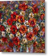 Red Poppies Bouquet Metal Print