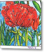 Red Poppy 1 Metal Print
