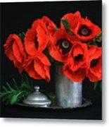Red Poppy Metal Print