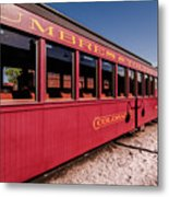 Red Rail Cars Metal Print