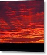 Red Ray Sunset Metal Print