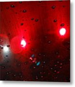 Red Reflection Metal Print