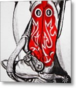Red Riding Boots Metal Print