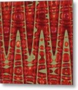 Red Ripe Pomagranite Abstract Metal Print