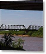 Red River Truss Bridge Metal Print