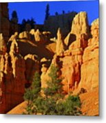 Red Rock Canoyon Moonrise Metal Print