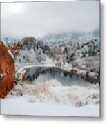Red Rock Canyon In Winter 2 Metal Print