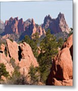 Red Rock Canyon Open Space Park And Garden Of The Gods Metal Print