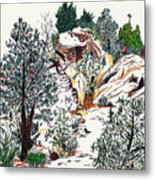 Red Rock Children's Discovery Metal Print
