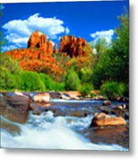 Red Rock Crossing Metal Print by Frank Houck