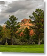 Red Rock Fairway Metal Print