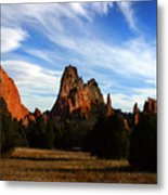 Red Rock Formations Metal Print