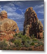 Red Rock Formations On A Desert Plateau In Utah Metal Print