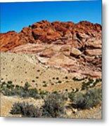 Red Rock Mountain Metal Print
