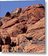 Red Rock Texture Metal Print