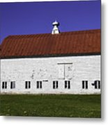 Red Roof Barn Vermont Metal Print