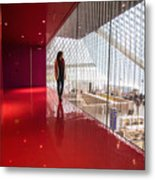 Red Room Views At The Seattle Central Library Metal Print