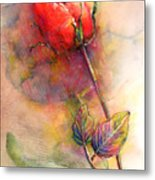 Red Rose From The Past Metal Print